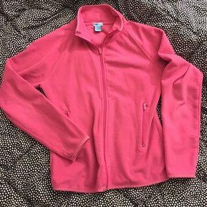 Finish line hot pink fleece long sleeve zip up